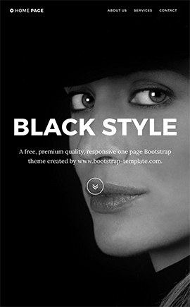 Black Style free theme Free Bootstrap template ID: 25