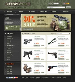 Weapon Store osCommerce ID: 300110343