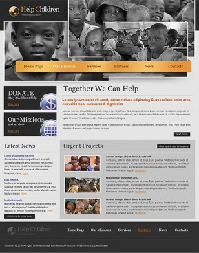 Charity HTML template ID: 300110820