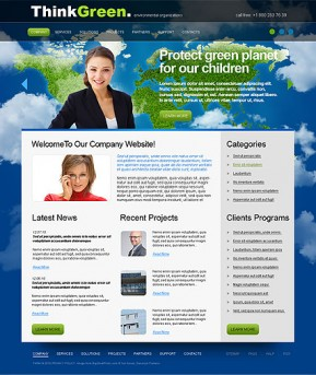 Think Green HTML template ID: 300110909