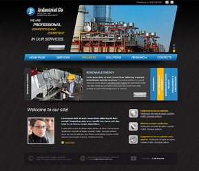 Industrial Company HTML template ID: 300110935