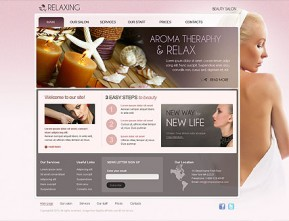 Relax Salon HTML template ID: 300110939