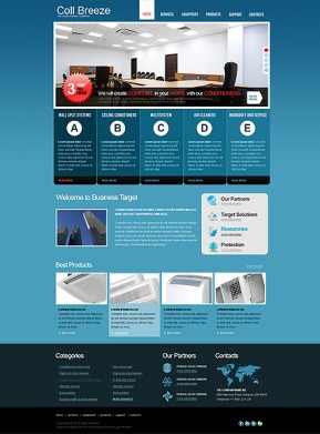 Air Conditioning HTML template ID: 300110980