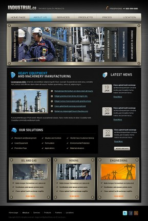 Industrial HTML template ID: 300110993