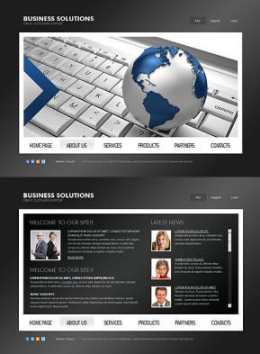 Business Solutions HTML5 template ID: 300111019