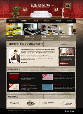 Home Renovation HTML template ID: 300111020