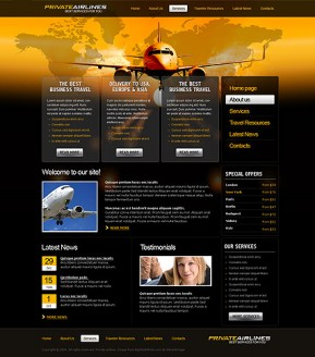 Private Airline HTML template ID: 300111025