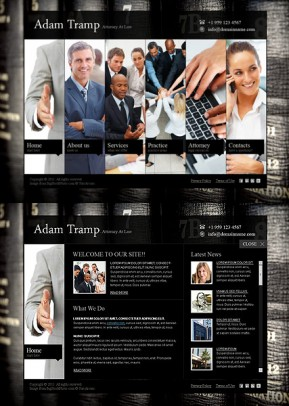 Private Lawyer HTML5 template ID: 300111028
