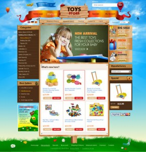 Toys Store 2.3ver osCommerce ID: 300111045