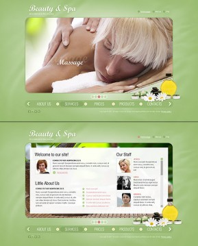 Beauty Salon HTML5 template ID: 300111053