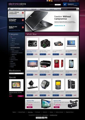 Electronic store 2.3ver osCommerce ID: 300111079