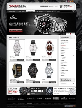 Watch Store 2.3ver osCommerce ID: 300111096