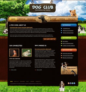 Dog Training HTML template ID: 300111108