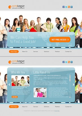 Recruiting Agency HTML5 template ID: 300111118