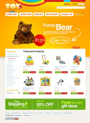 Toys Store 2.3ver osCommerce ID: 300111140