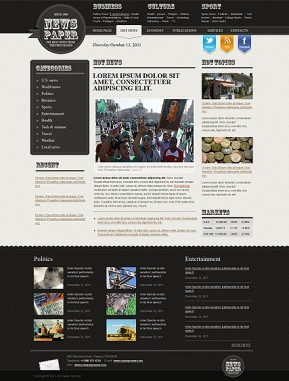 Newspaper HTML template ID: 300111155