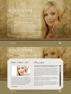 Personal Page HTML5 template ID: 300111156