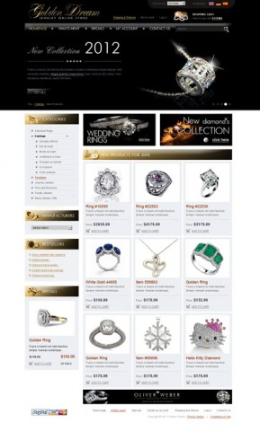 Jewerly store 2.3ver osCommerce ID: 300111166
