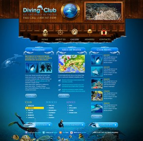 Diving Club HTML template ID: 300111177
