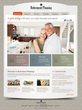Retirement Planning HTML template ID: 300111187