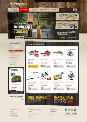 Fishing tackles 2.3ver osCommerce ID: 300111234
