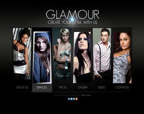 Glamour Fashion HTML5 template ID: 300111235