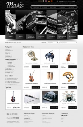 Music instrument v2.3 osCommerce ID: 300111260