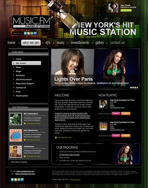 Radio station v2.5 Joomla template ID: 300111268
