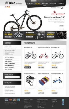 Bike Store v2.3 osCommerce ID: 300111276