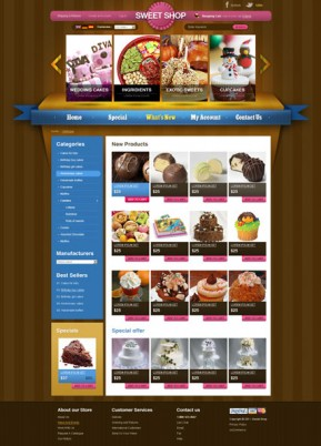 Sweets v2.3 osCommerce ID: 300111286