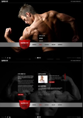 Fitness Club HTML5 template ID: 300111295