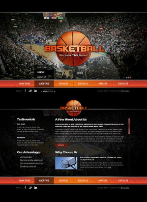 Basketball HTML5 template ID: 300111304