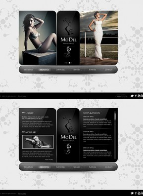 Model Agency HTML5 template ID: 300111307