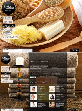 Spa Salon HTML5 template ID: 300111318