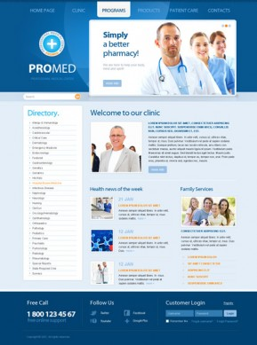 ProMed v2.5 Joomla template ID: 300111319