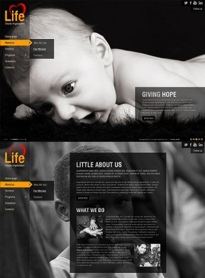 Charity HTML5 template ID: 300111327