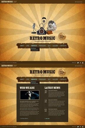 Retro Radio HTML5 template ID: 300111331