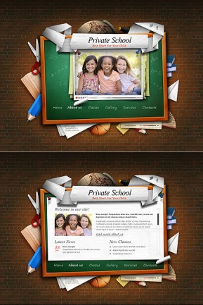 Private School HTML5 template ID: 300111336