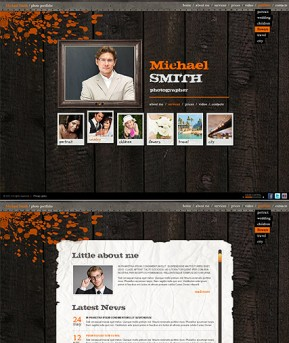 Retro Photographer HTML5 template ID: 300111343