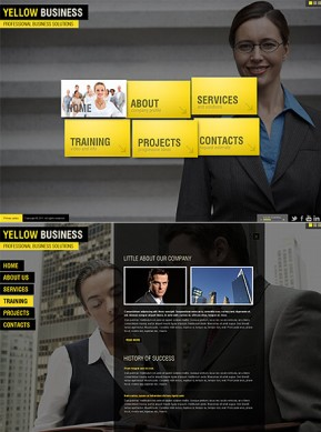 Yellow Business HTML5 template ID: 300111345
