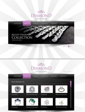 Jewelry HTML5 template ID: 300111348