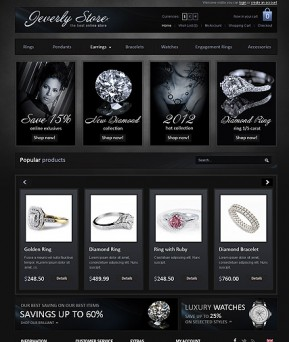 Jewelry Store OpenCart template ID: 300111350