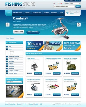 Fishing Store OpenCart template ID: 300111359
