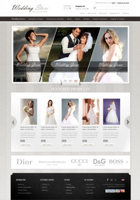 Wedding Store OpenCart template ID: 300111360