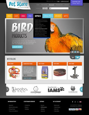 Pet Store OpenCart template ID: 300111361
