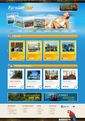 Travel Agency OpenCart template ID: 300111362