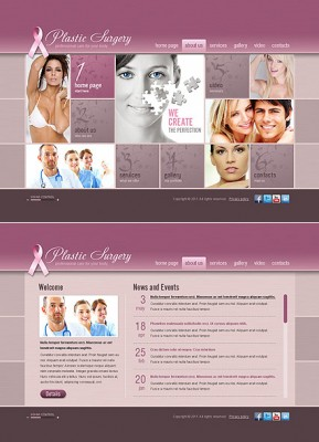 Plastic Surgery HTML5 template ID: 300111364