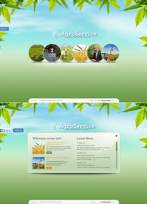 Agro Service HTML5 template ID: 300111366