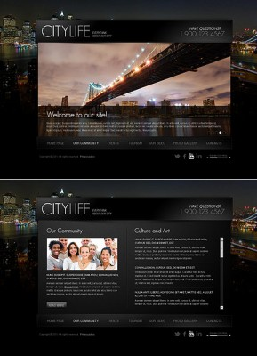 City Life HTML5 template ID: 300111367
