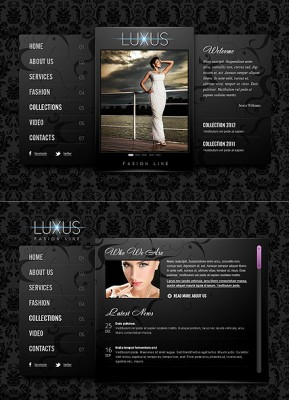 Luxus Fashion HTML5 template ID: 300111368